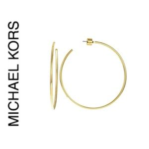 NWT authentic MK gold tone small hoop earrings